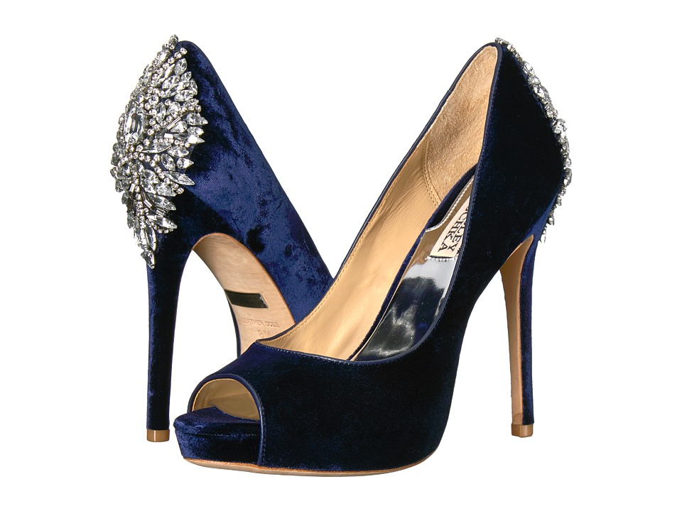 Badgley Mischka Kiara (Navy Velvet) High Heels