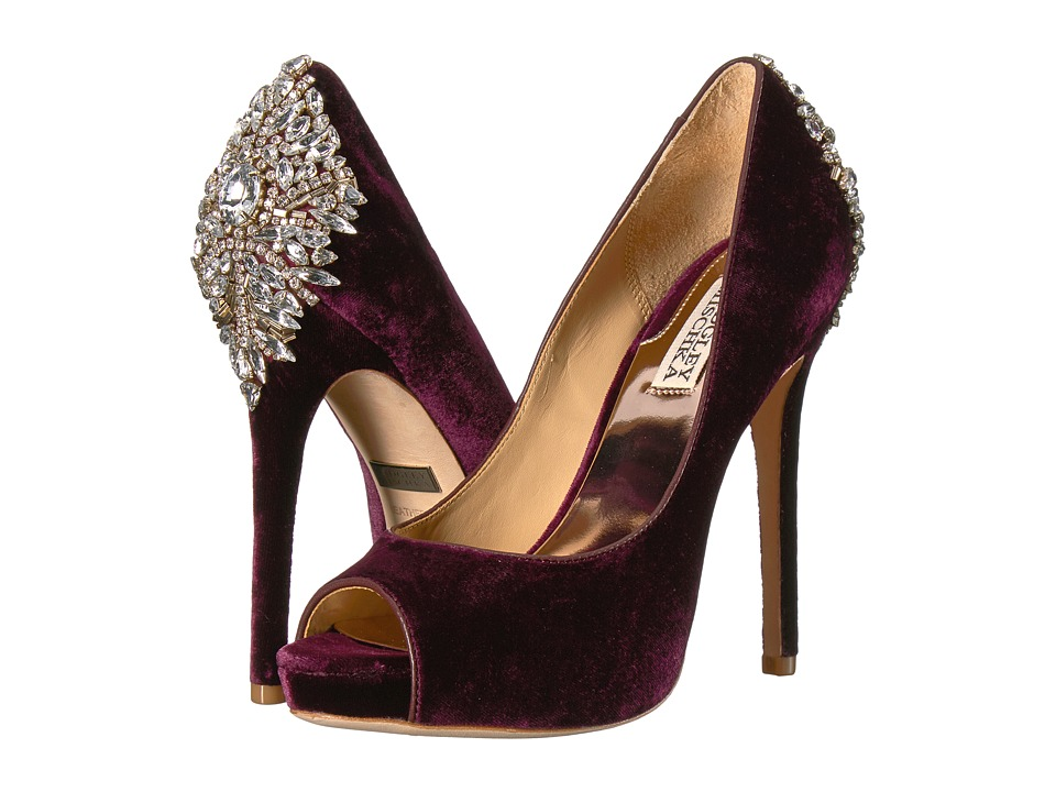 Badgley Mischka Kiara (Wine Velvet) High Heels