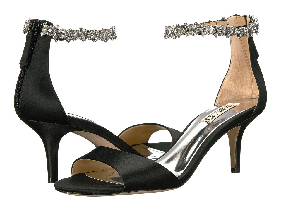 Badgley Mischka Geranium (Black Satin) High Heels