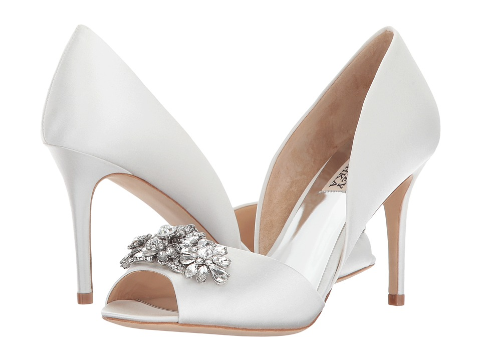 Badgley Mischka Kaden (White Satin) Women