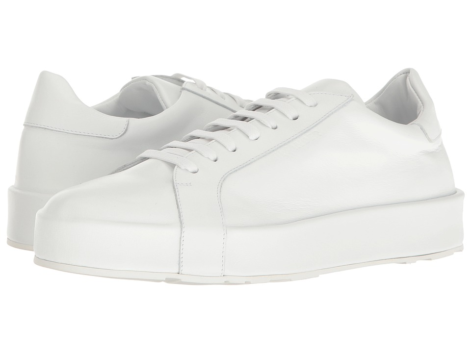 Jil Sander - JS25155 (White Softy Calf) Womens Lace up casual Shoes