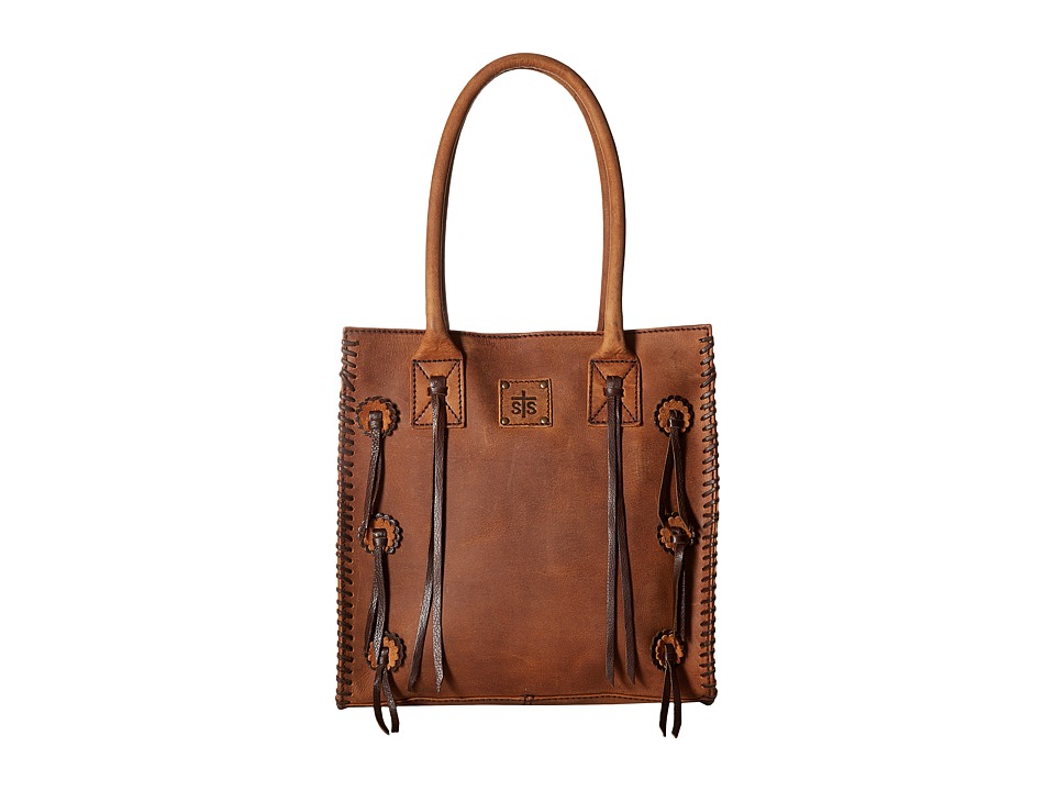 STS Ranchwear - Large Chaps Satchel (Brown) Handbags