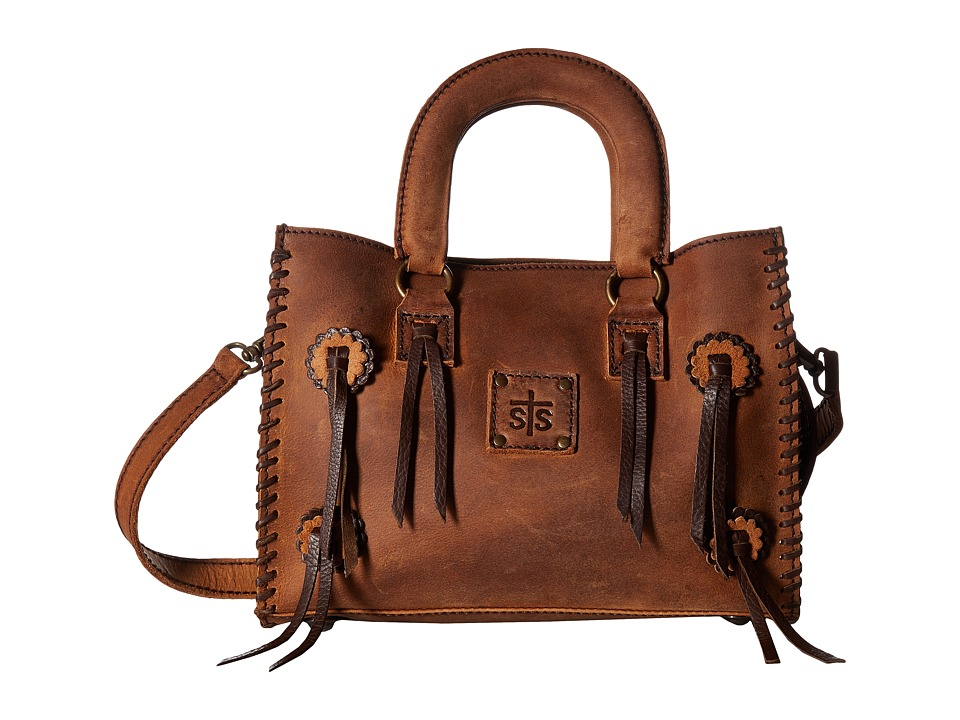 STS Ranchwear - Small Chaps Satchel (Brown) Satchel Handbags