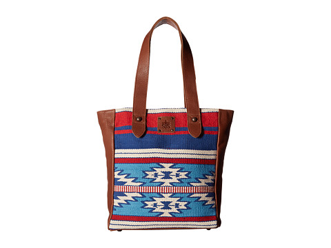 STS Ranchwear Americana Serape Handbag - Red/White/Blue/Brown