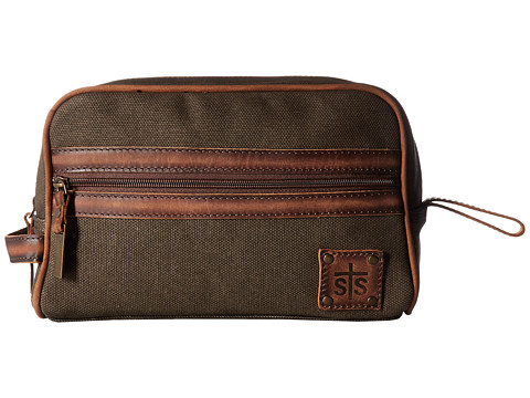 STS Ranchwear The Foreman Shave Kit - Dark Canvas/Leather Accents