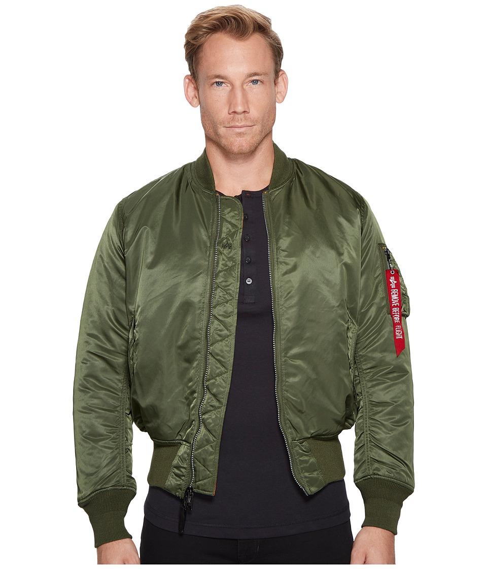 Image of Alpha Industries - Alpha MA-1 Flight Jacket (Sage) Men's Jacket