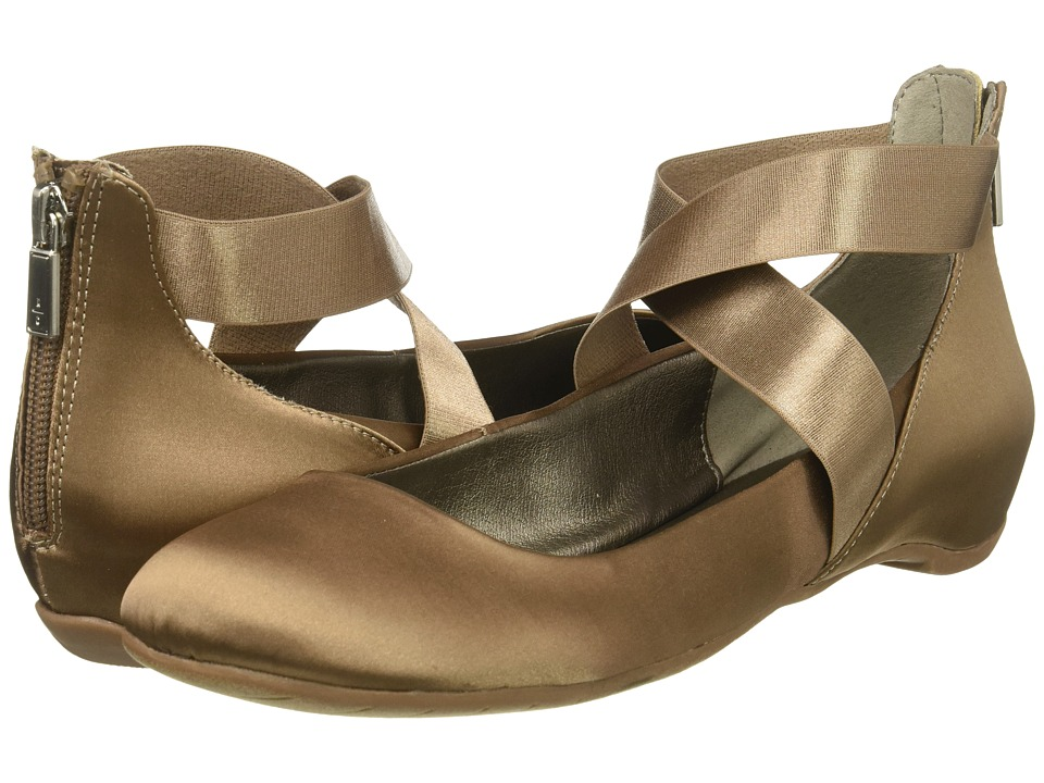 Retro Vintage Flats and Low Heel Shoes Kenneth Cole Reaction - Pro-Time Mink Satin Womens Shoes $79.00 AT vintagedancer.com
