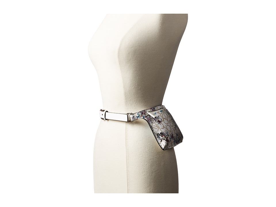 Calvin Klein Calvin Klein - 20mm Smooth Leather Strap Logo Floral Belt Bag