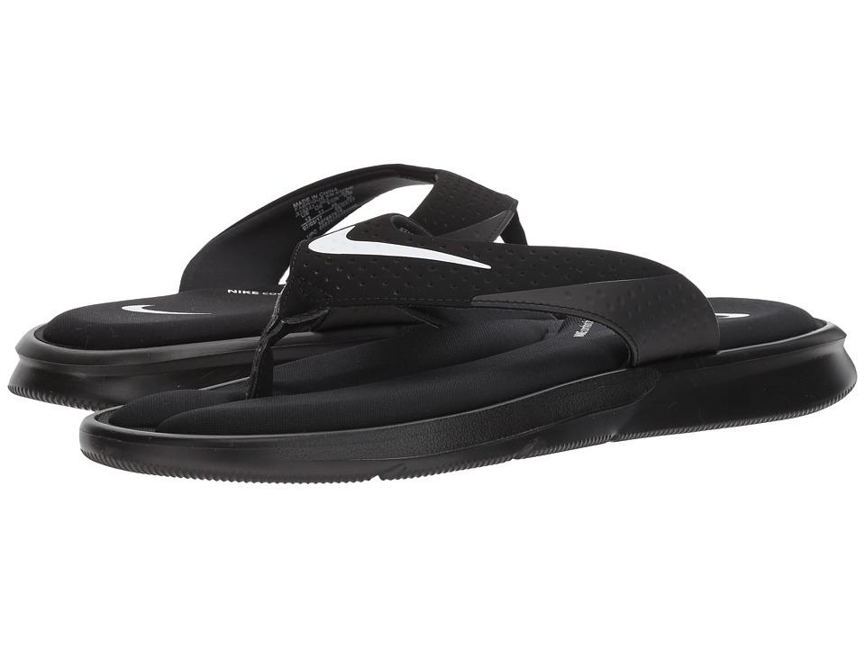 Nike - Ultra Comfort Thong (Black/White) Men's Sandals