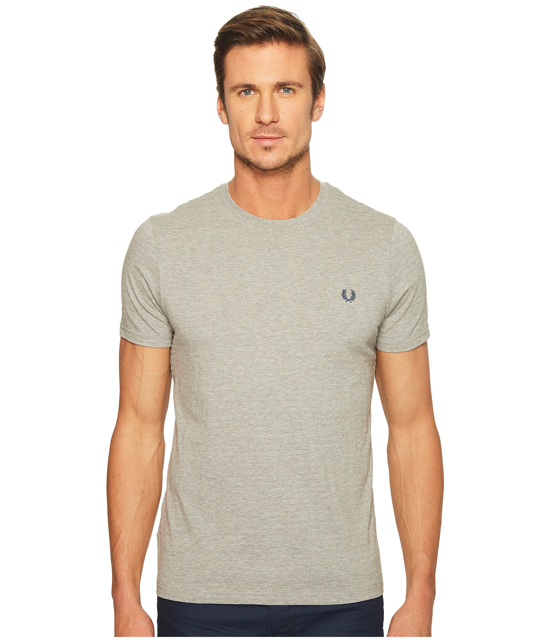 Fred Perry Textured Stripe T Shirt At