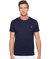 Fred Perry - Checkerboard Print T-Shirt
