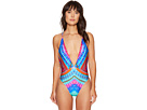 Luli Fama - Star Girl Reversible Deep V Crossed Back One-Piece