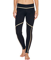 Luli Fama - Warrior Spirit Gold Trimmed Leggings - Long