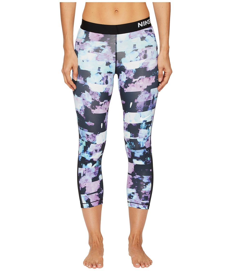 Nike Pro Flower Jam Capri (Light Magenta/Black/White) Women