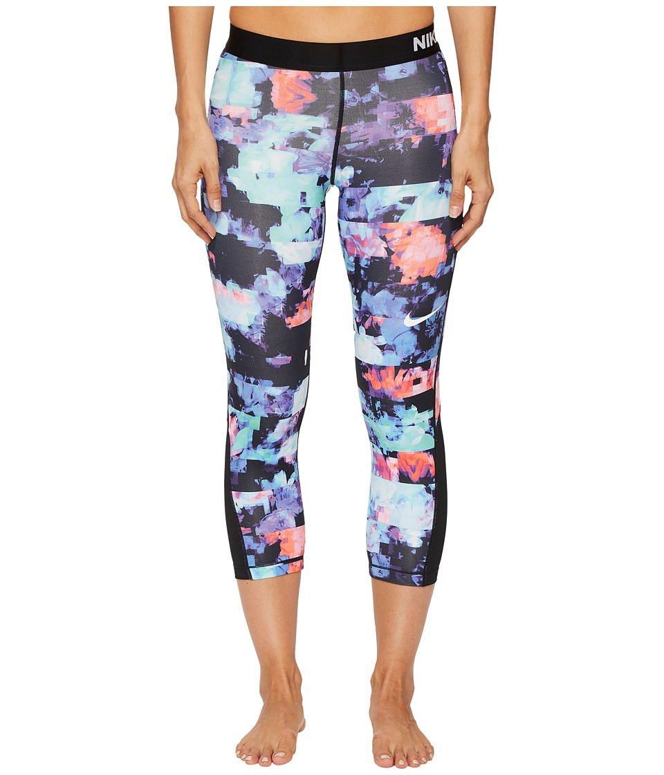 Nike Pro Flower Jam Capri (Hyper Crimson/Black/White) Women