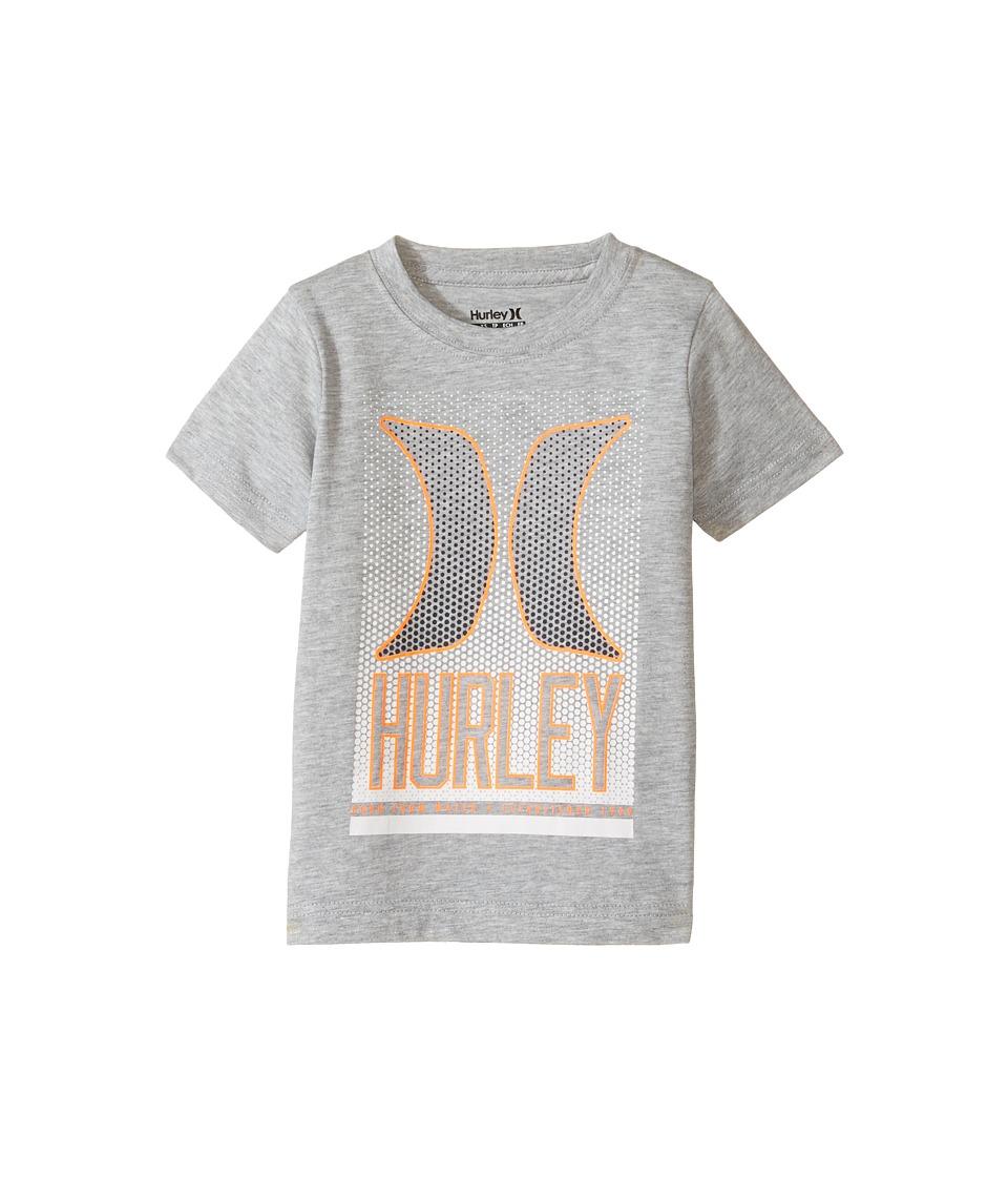 Hurley Kids On the Dot Tee (Little Kids) (Dark Grey Heather) Boy