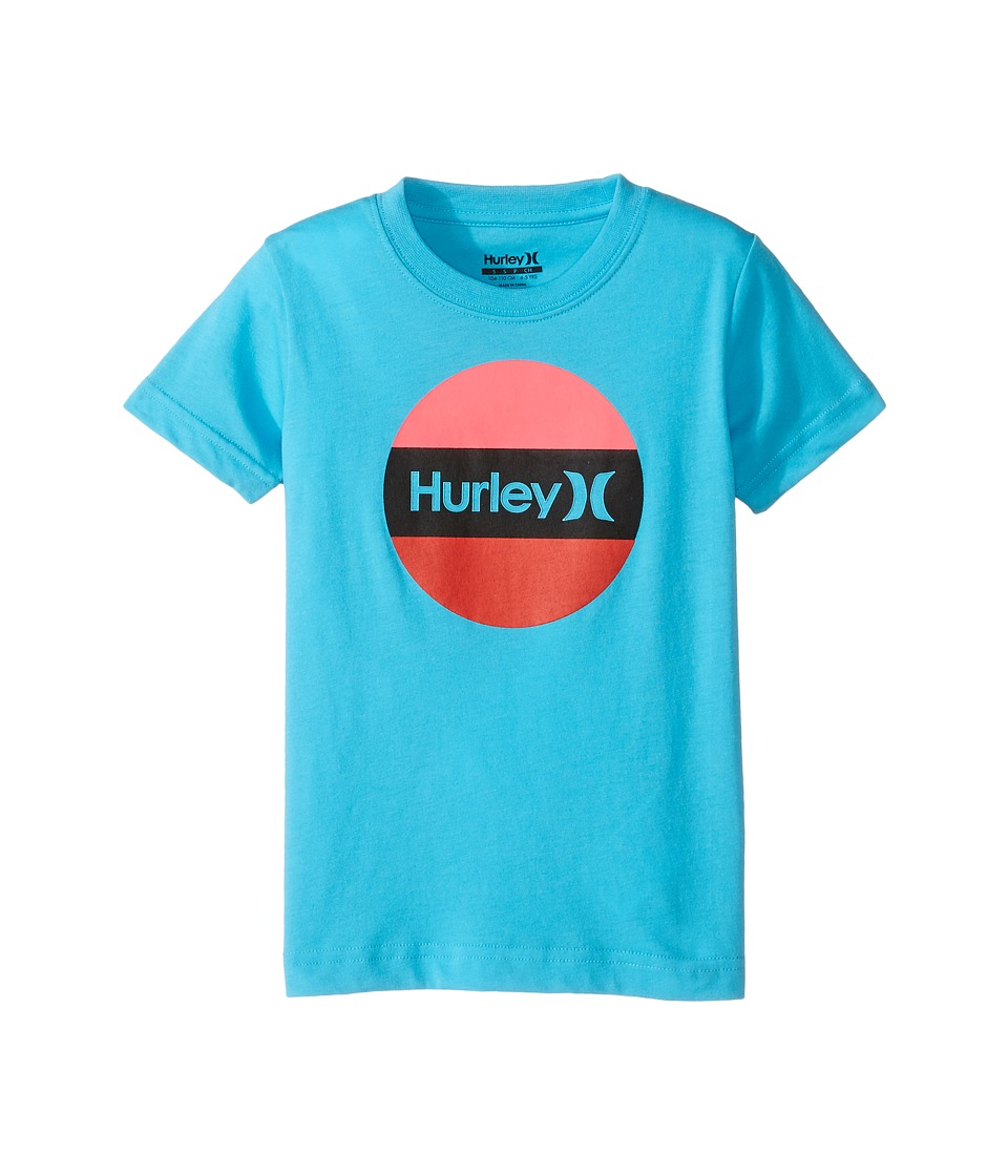 Hurley Kids Rolled Tee (Little Kids) (Chlorine Blue) Boy