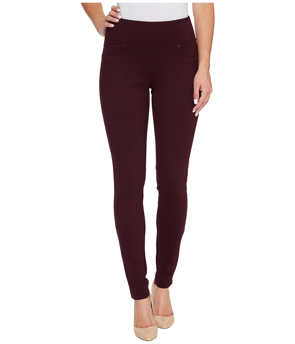 Jag Jeans - Ricki Pull-On Legging Double Knit Ponte (Deep Burgundy) Womens Casual Pants
