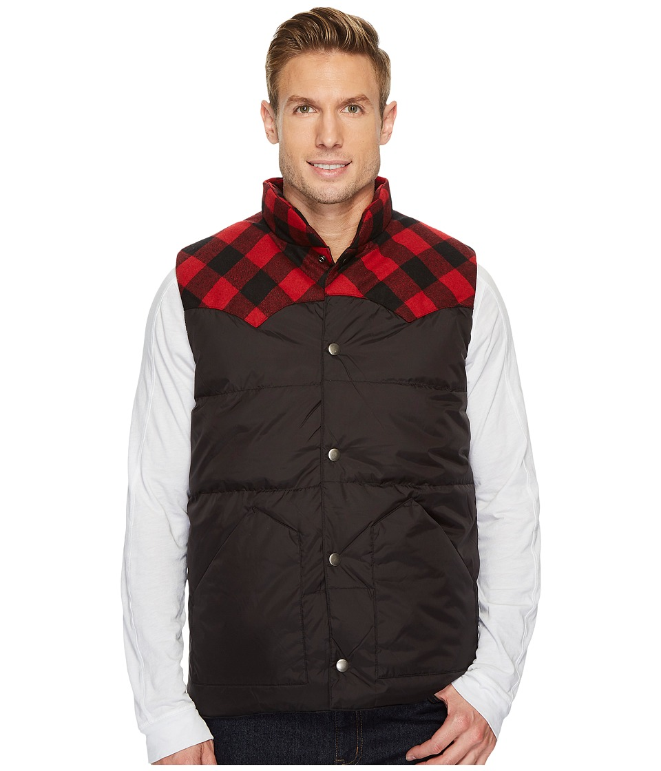 Stetson 1440 Black Nylon Quilted Vest (Black) Men