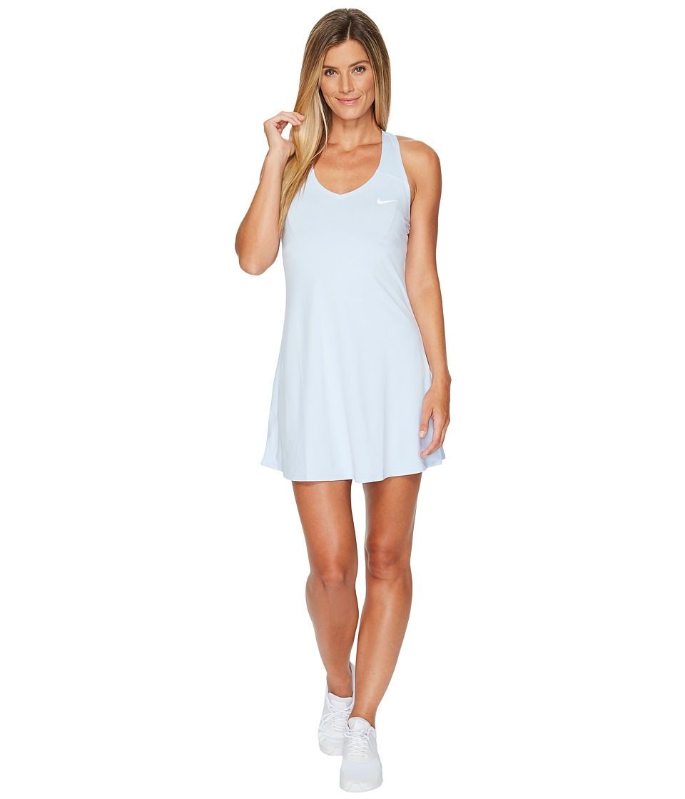 Nike Court Dry Tennis Dress (Hydrogen Blue/White) Women