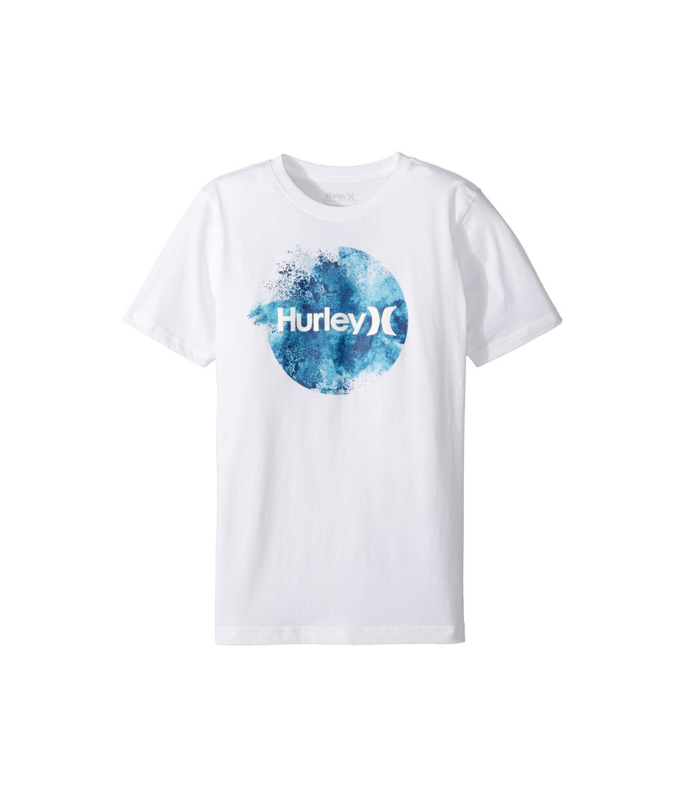Hurley Kids Circular Burst Tee (Big Kids) (White) Boy