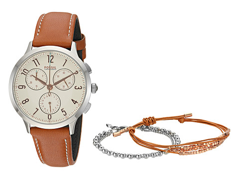 Fossil Abilene Watch and Jewelry Box Set - CH4001SET - Brown