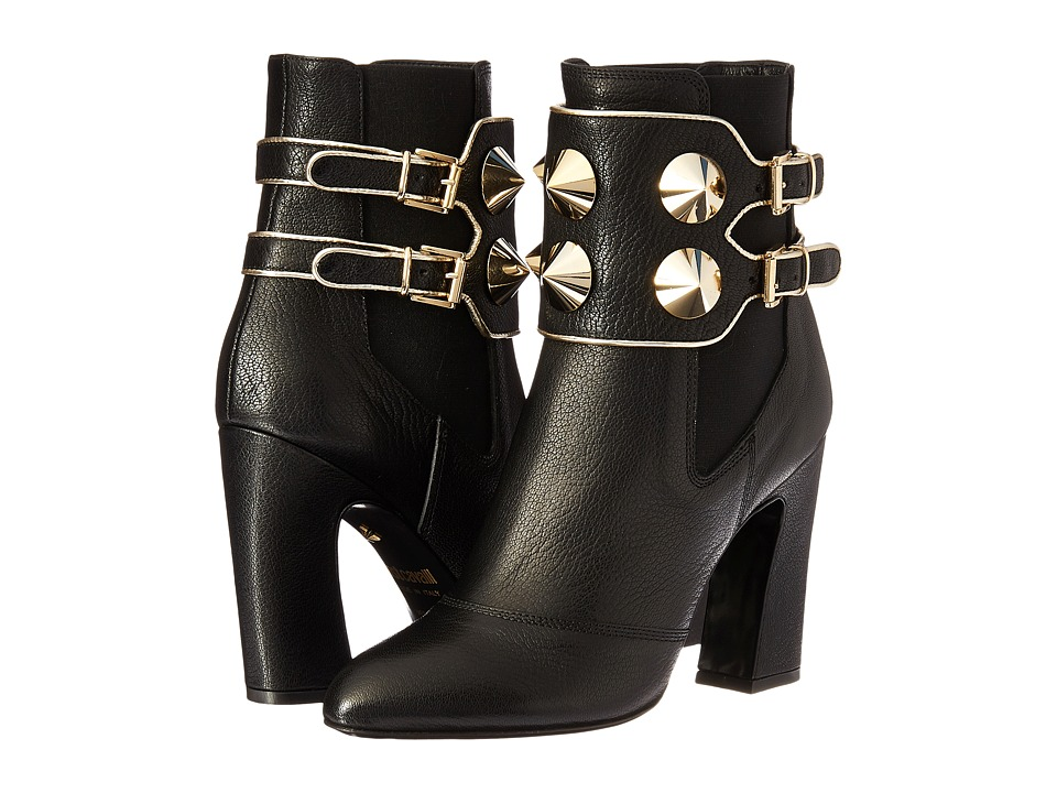 Just Cavalli Studded Ankle Boot (Black) Women