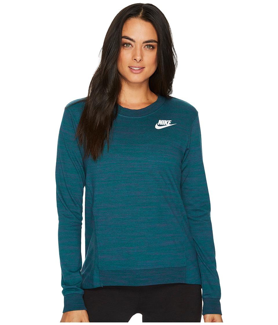 Nike Sportswear Gym Classic Crew (Dark Atomic Teal/Heather/Sail) Women