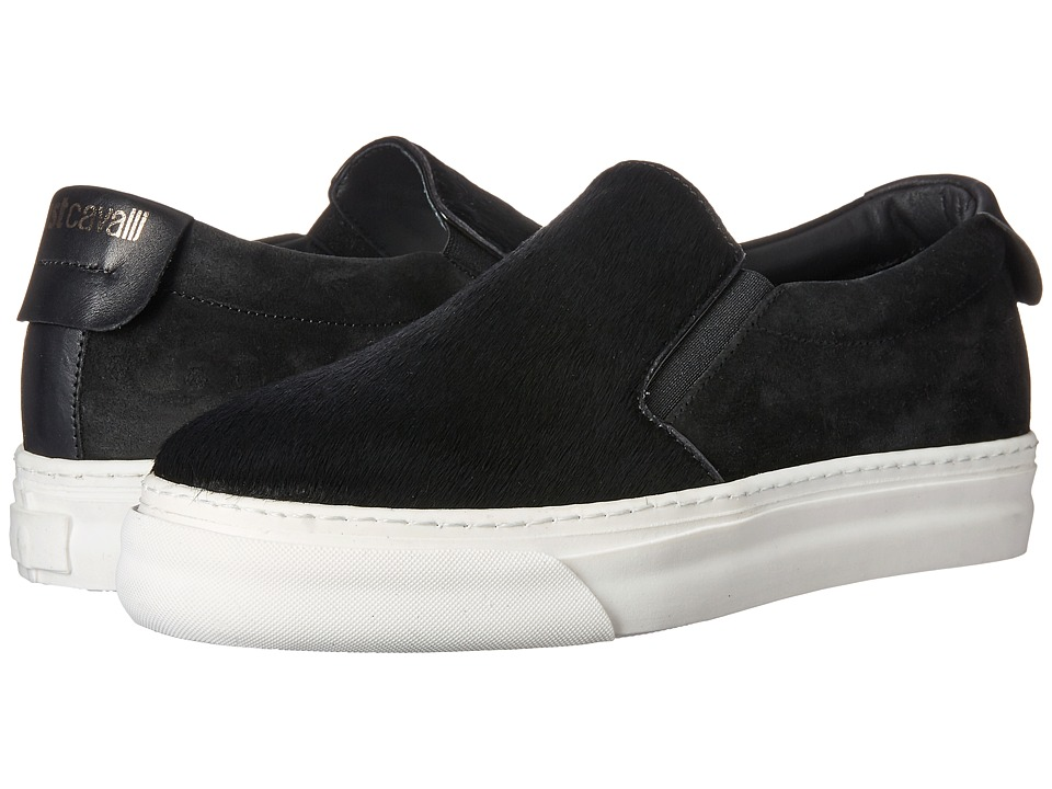Just Cavalli Horse Hair Slip-On Shoe (Black) Women
