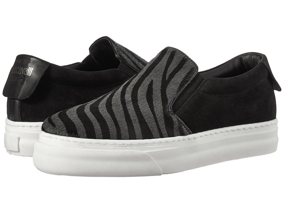 Just Cavalli Zebra Slip-On Shoe (Gargoyle) Women