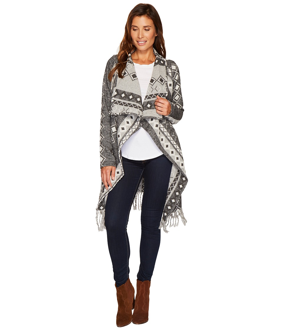 Stetson 1479 Wool Blend Black and White Cardigan (Grey) Women
