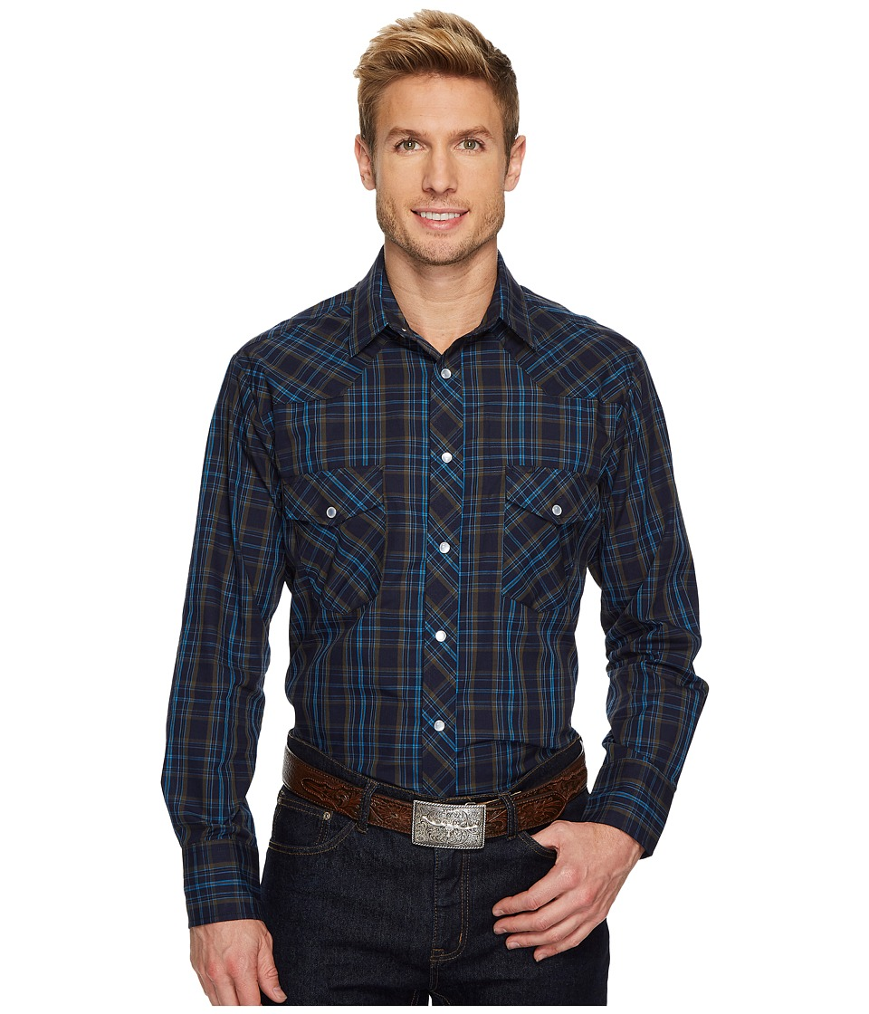 Roper - 1202 Navy and Olive Plaid