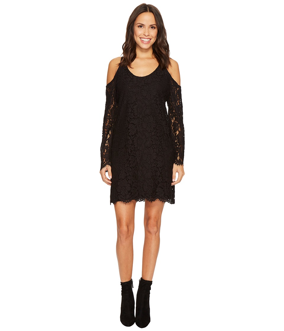 Stetson 1434 Lace Cold Shoulder Dress (Black) Women