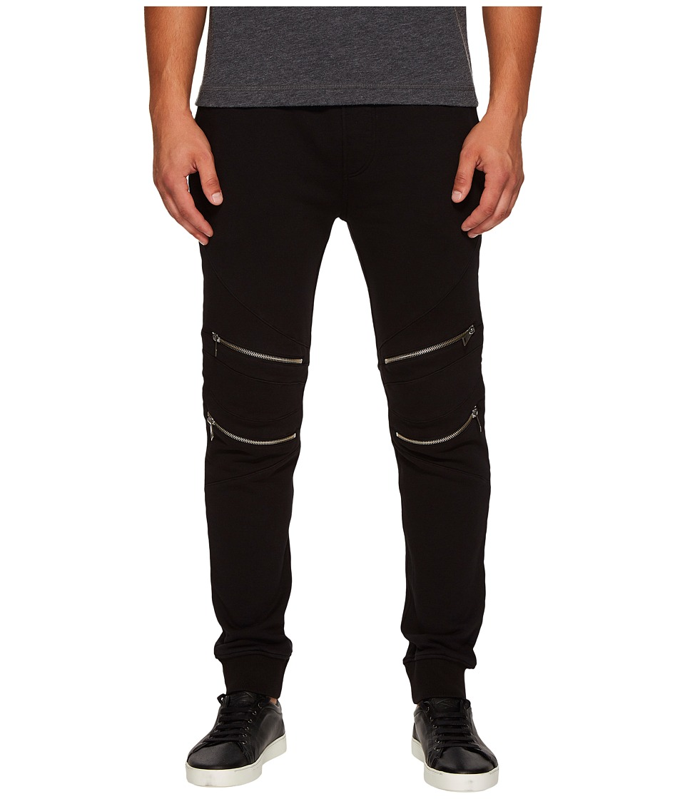 Just Cavalli - Moto Track Pants (Black) Mens Casual Pants