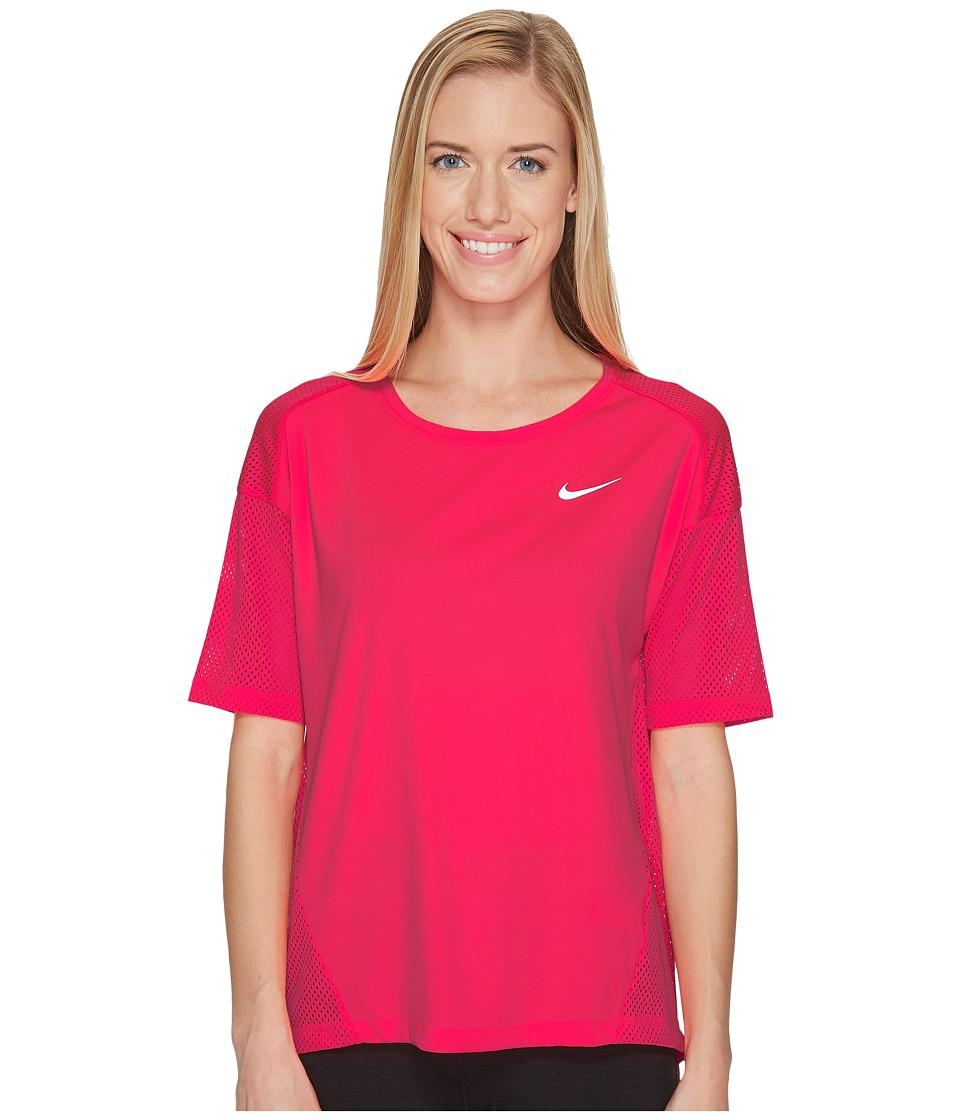 Nike Dry Miler Running Top (Racer Pink/Racer Pink) Women'...