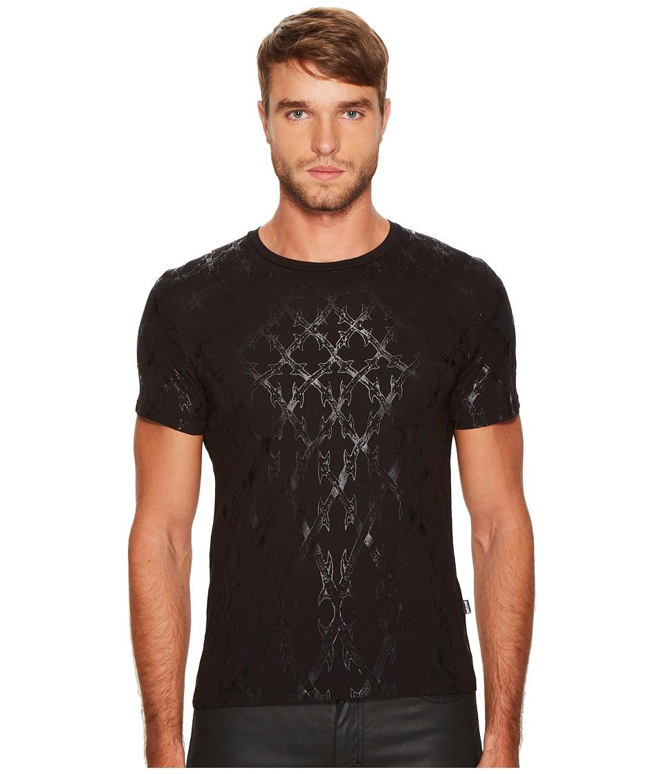 Just Cavalli Wrought Iron T-Shirt (Black) Men