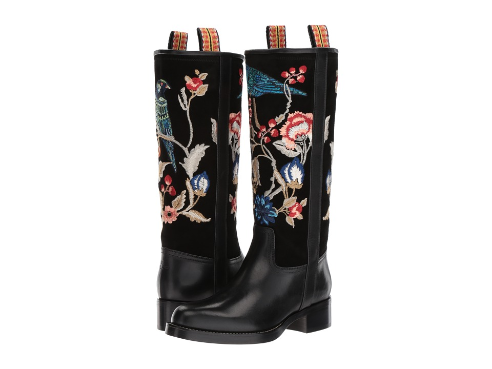Etro - Embroidered Boot (Black) Women's Boots