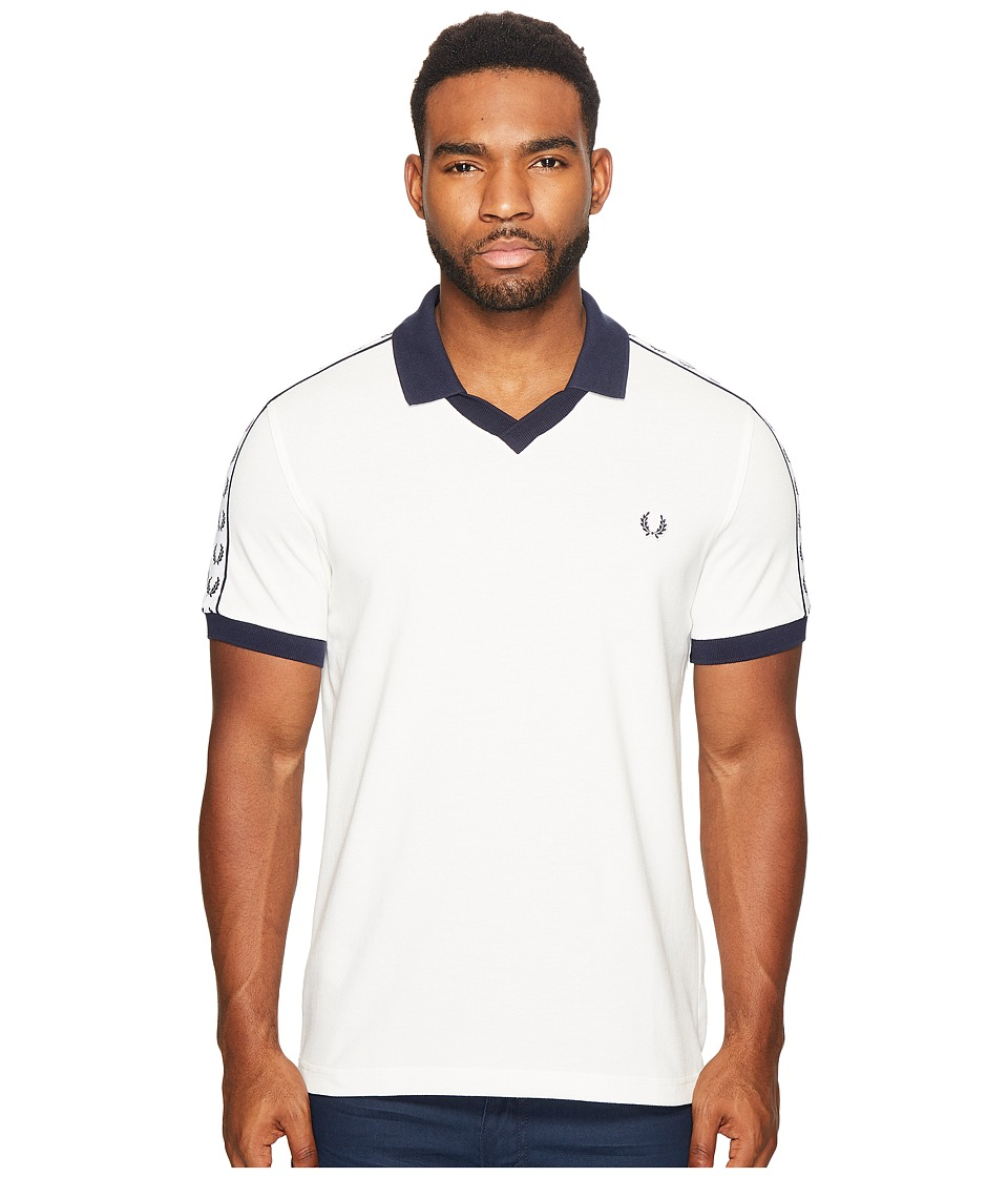 Fred Perry - Taped Pique Shirt (Snow White) Men's T Shirt