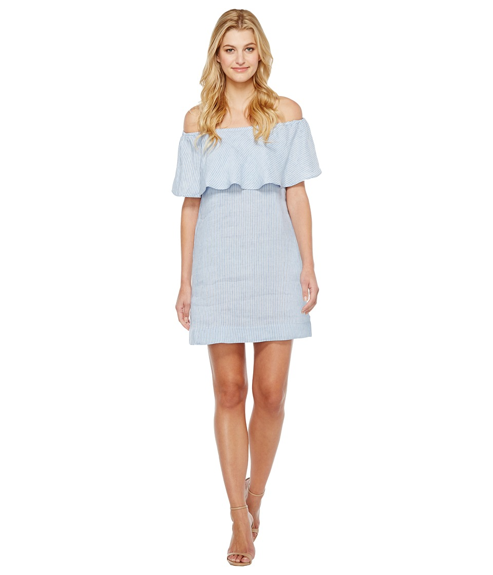 7 For All Mankind 7 For All Mankind - Striped Off Shoulder Dress