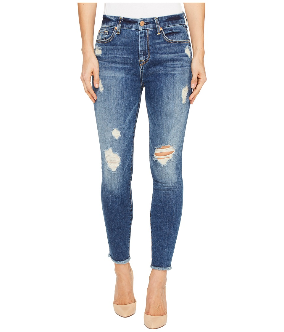 7 For All Mankind - High Waisted Ankle Skinny w/ Release Hem in Serratoga Bay