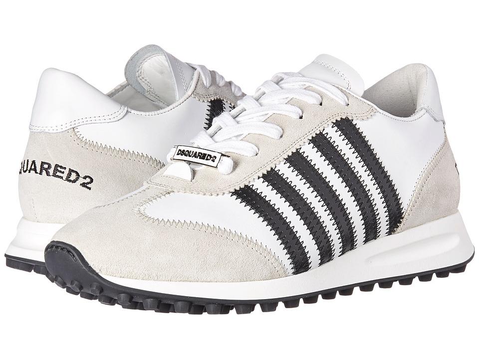 DSQUARED2 New Hiking Runner Sneaker (White/Black) Men