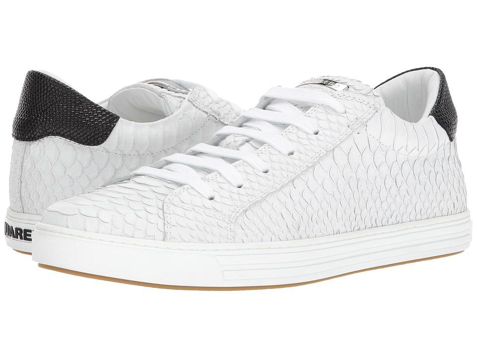 DSQUARED2 Tennis Club Low Top Sneaker (White/Black) Men