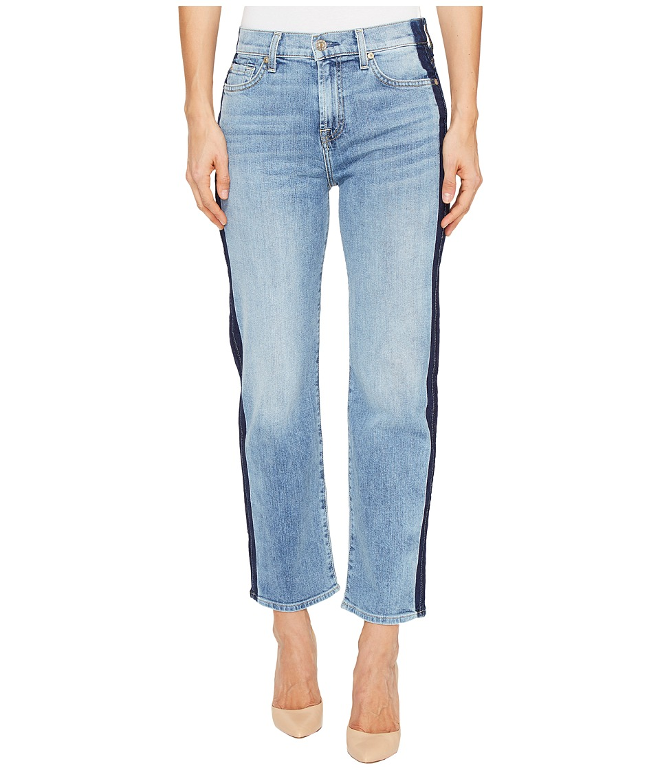 7 For All Mankind - Kiki Jeans w/ Shadow Side Seam in Gold Coast Waves