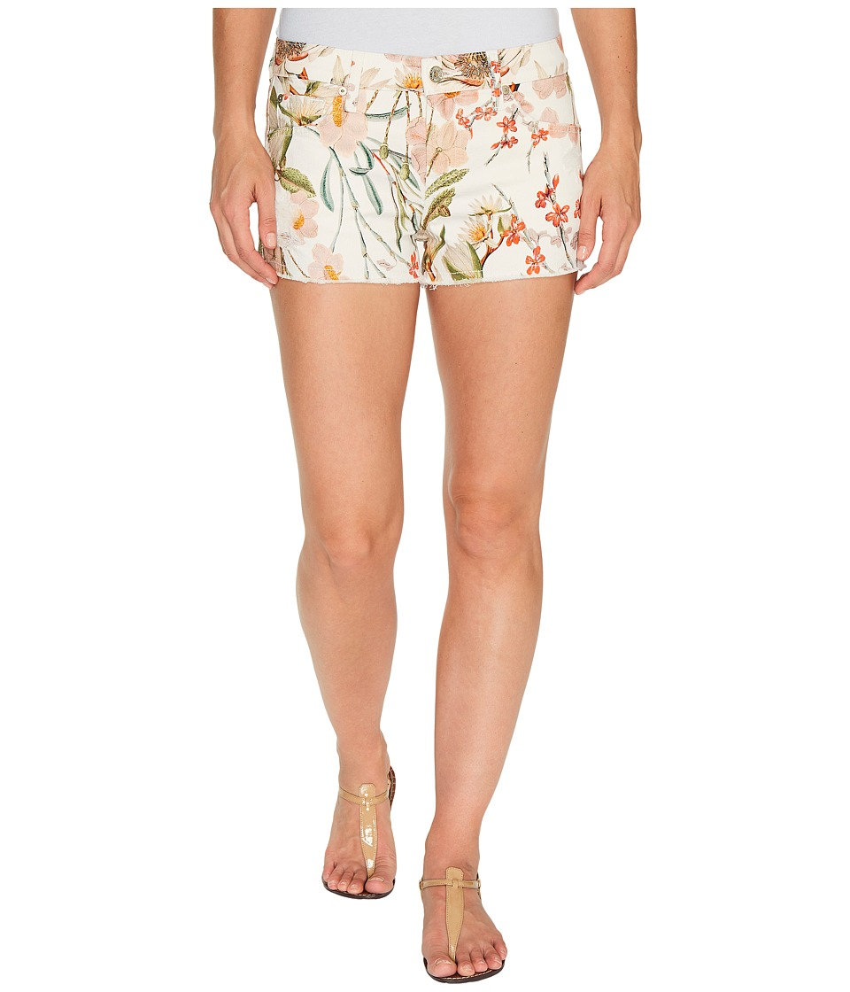 7 For All Mankind - Cut Off Shorts w/ Side Splits Light Destroy in Tropical Print 2