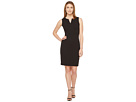 Calvin Klein Split V Seamed Sheath Dress CD7C1R8Q