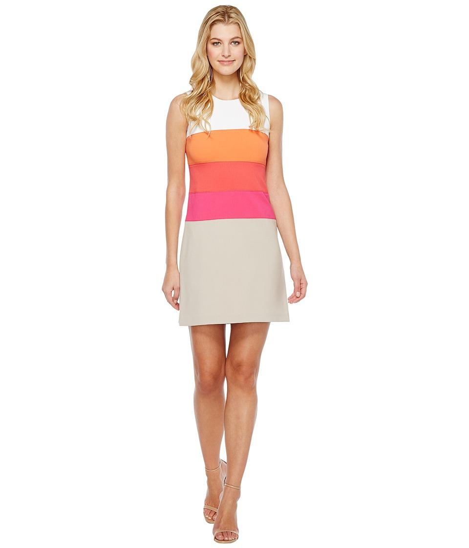 Calvin Klein Color Block Lux Dress CD6X1V7Q (Khaki Multi) Women