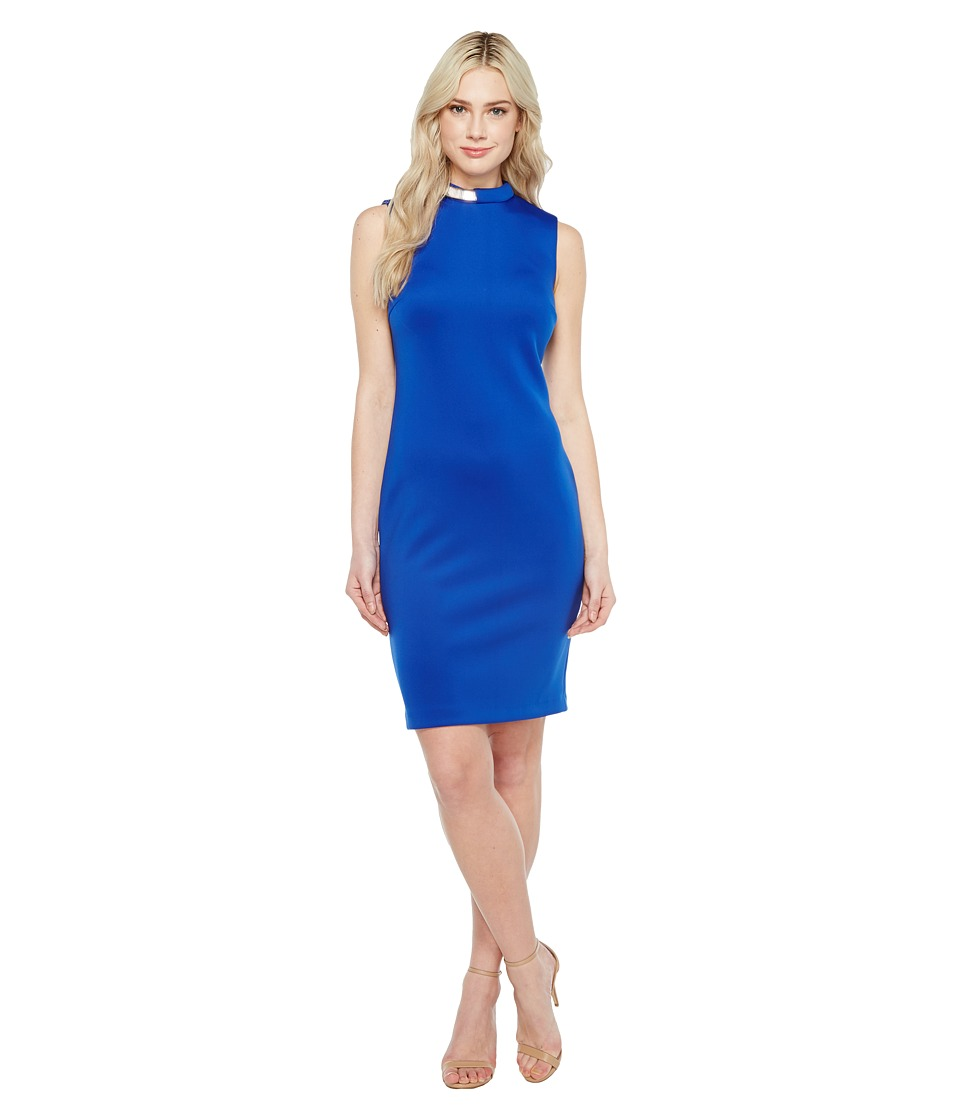 Calvin Klein Hardware Detail Neck Sheath Dress CD7M1X3A (Regatta) Women