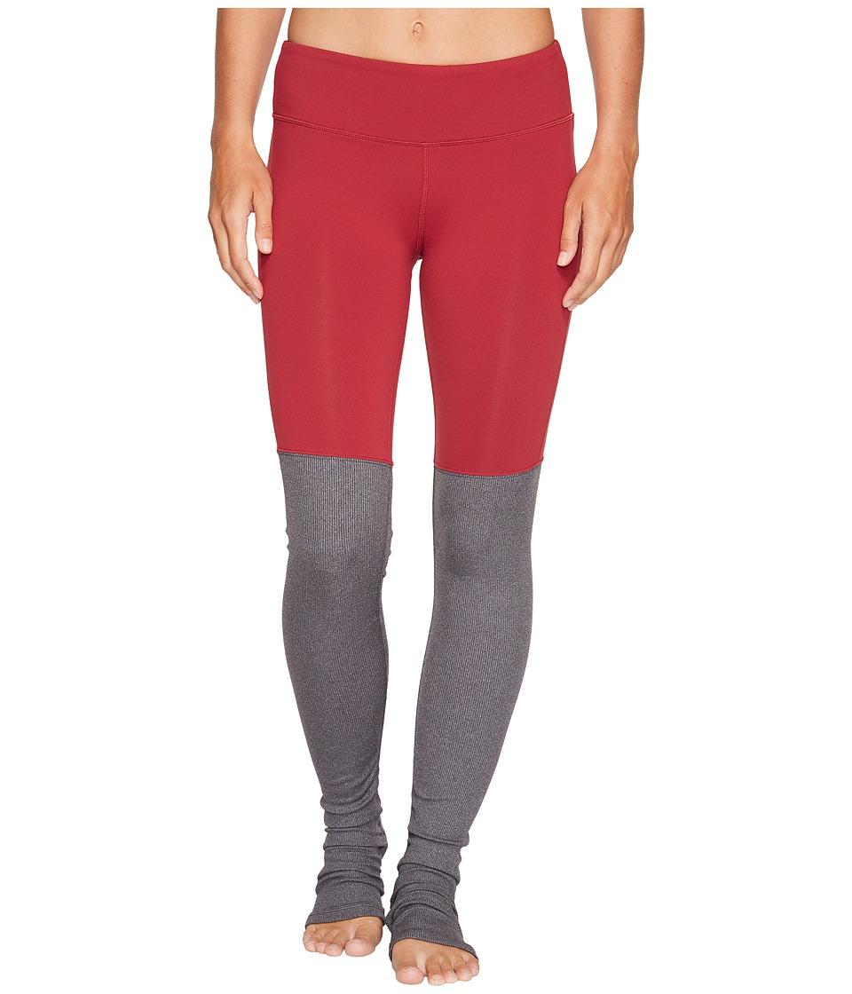 ALO - Goddess Ribbed Legging (Red Velvet) Women's Workout