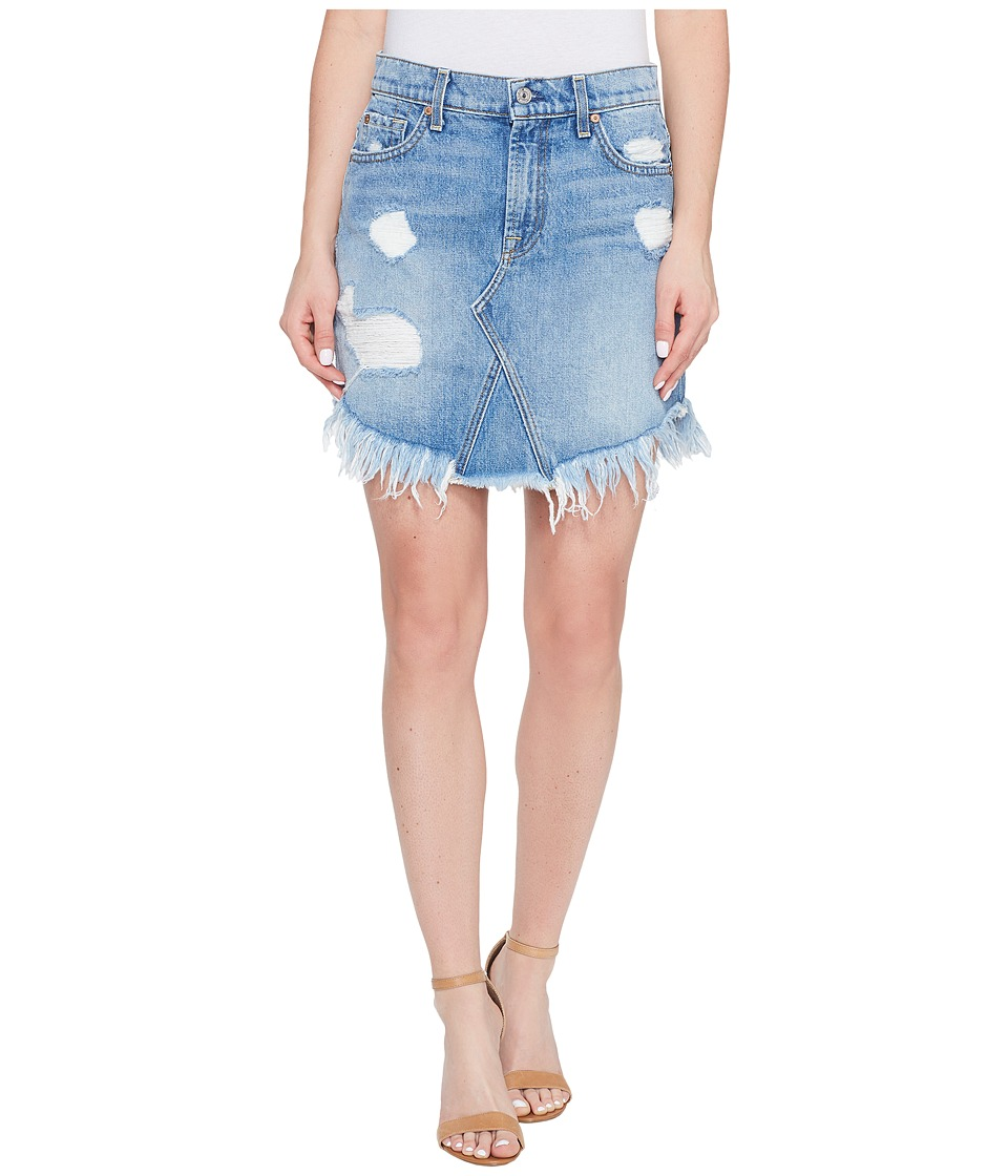 7 For All Mankind 7 For All Mankind - Mini Skirt w/ Scallop Raw Hem Destroy