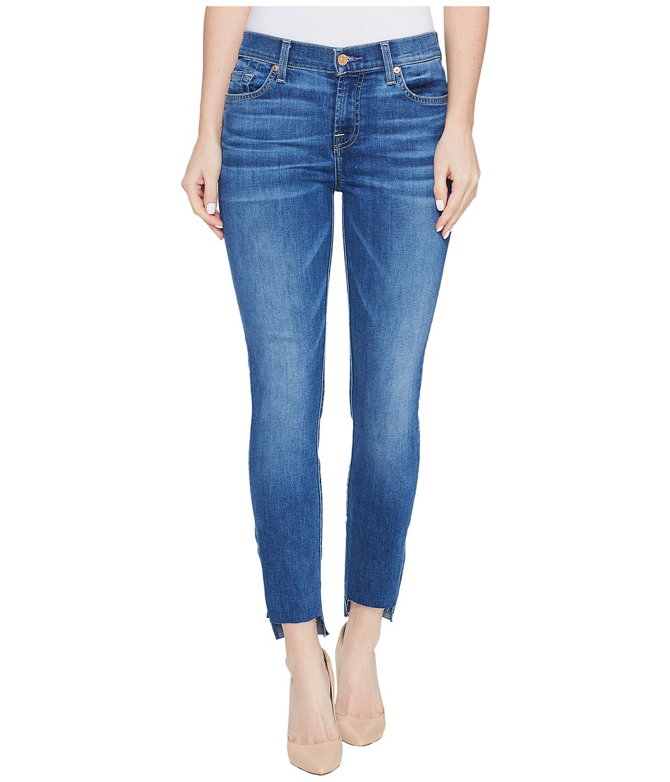 7 For All Mankind - The Ankle Skinny Jeans w/ Step Hem in Bella Heritage